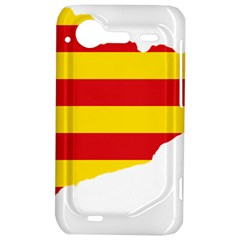 Flag Map Of Catalonia HTC Incredible S Hardshell Case