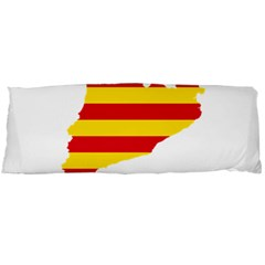 Flag Map Of Catalonia Body Pillow Case (Dakimakura)