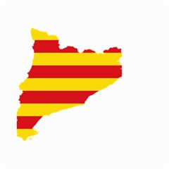 Flag Map Of Catalonia Small Garden Flag (Two Sides)