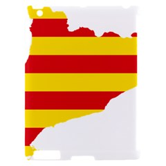 Flag Map Of Catalonia Apple iPad 2 Hardshell Case (Compatible with Smart Cover)