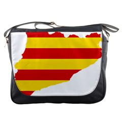 Flag Map Of Catalonia Messenger Bags