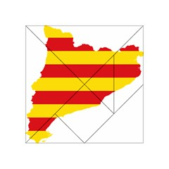Flag Map Of Catalonia Acrylic Tangram Puzzle (4  x 4 )