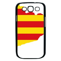 Flag Map Of Catalonia Samsung Galaxy S III Case (Black)