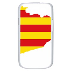 Flag Map Of Catalonia Samsung Galaxy S III Case (White)