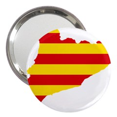 Flag Map Of Catalonia 3  Handbag Mirrors