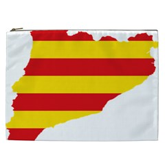Flag Map Of Catalonia Cosmetic Bag (XXL)