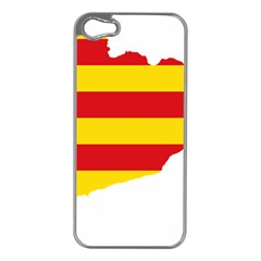 Flag Map Of Catalonia Apple iPhone 5 Case (Silver)