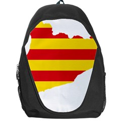Flag Map Of Catalonia Backpack Bag