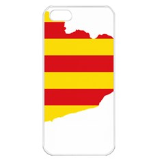 Flag Map Of Catalonia Apple iPhone 5 Seamless Case (White)