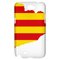 Flag Map Of Catalonia Samsung Galaxy Note 2 Hardshell Case
