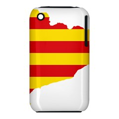 Flag Map Of Catalonia Apple iPhone 3G/3GS Hardshell Case (PC+Silicone)