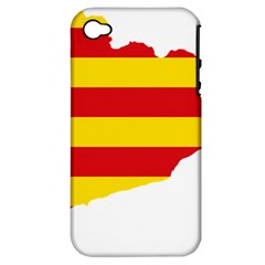 Flag Map Of Catalonia Apple iPhone 4/4S Hardshell Case (PC+Silicone)