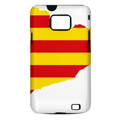 Flag Map Of Catalonia Samsung Galaxy S II i9100 Hardshell Case (PC+Silicone)