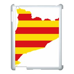 Flag Map Of Catalonia Apple iPad 3/4 Case (White)