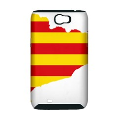 Flag Map Of Catalonia Samsung Galaxy Note 2 Hardshell Case (PC+Silicone)