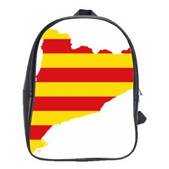 Flag Map Of Catalonia School Bags (XL)