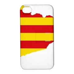 Flag Map Of Catalonia Apple iPhone 4/4S Hardshell Case with Stand