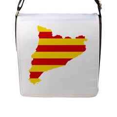 Flag Map Of Catalonia Flap Messenger Bag (L)