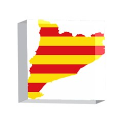 Flag Map Of Catalonia 4 x 4  Acrylic Photo Blocks