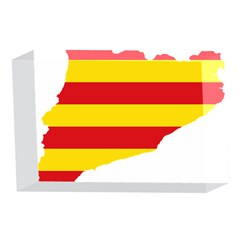 Flag Map Of Catalonia 4 x 6  Acrylic Photo Blocks