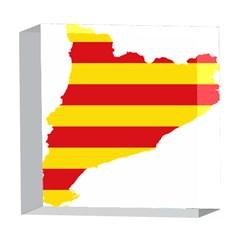 Flag Map Of Catalonia 5  x 5  Acrylic Photo Blocks