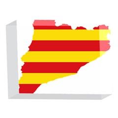 Flag Map Of Catalonia 5 x 7  Acrylic Photo Blocks