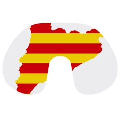 Flag Map Of Catalonia Travel Neck Pillows