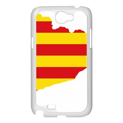 Flag Map Of Catalonia Samsung Galaxy Note 2 Case (White)