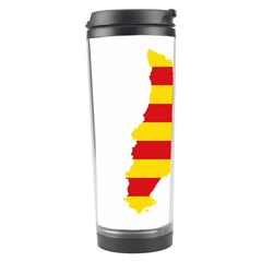 Flag Map Of Catalonia Travel Tumbler