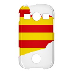 Flag Map Of Catalonia Samsung Galaxy S7710 Xcover 2 Hardshell Case