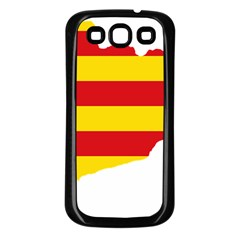 Flag Map Of Catalonia Samsung Galaxy S3 Back Case (Black)
