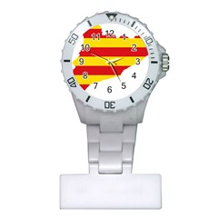 Flag Map Of Catalonia Plastic Nurses Watch