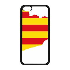 Flag Map Of Catalonia Apple iPhone 5C Seamless Case (Black)
