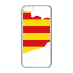Flag Map Of Catalonia Apple iPhone 5C Seamless Case (White)