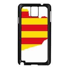 Flag Map Of Catalonia Samsung Galaxy Note 3 N9005 Case (Black)