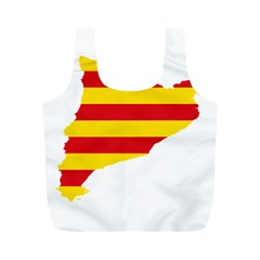 Flag Map Of Catalonia Full Print Recycle Bags (M)