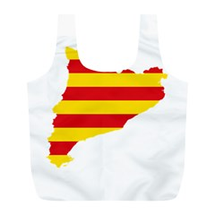 Flag Map Of Catalonia Full Print Recycle Bags (L)