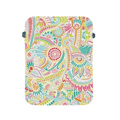 Hippie Flowers Pattern, pink blue green, zz0101 Apple iPad 2/3/4 Protective Soft Case