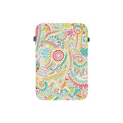 Hippie Flowers Pattern, pink blue green, zz0101 Apple iPad Mini Protective Soft Case