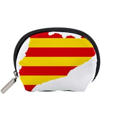 Flag Map Of Catalonia Accessory Pouches (Small)