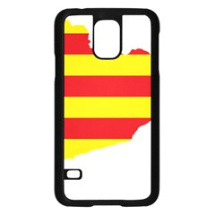 Flag Map Of Catalonia Samsung Galaxy S5 Case (Black)