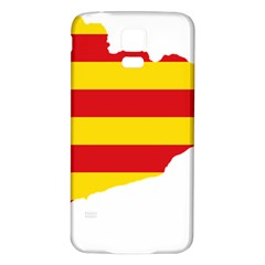 Flag Map Of Catalonia Samsung Galaxy S5 Back Case (White)