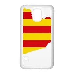 Flag Map Of Catalonia Samsung Galaxy S5 Case (White)