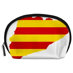 Flag Map Of Catalonia Accessory Pouches (Large)