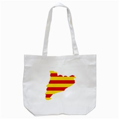 Flag Map Of Catalonia Tote Bag (White)