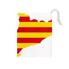Flag Map Of Catalonia Drawstring Pouches (Medium)
