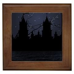 Dark Scene Illustration Framed Tiles