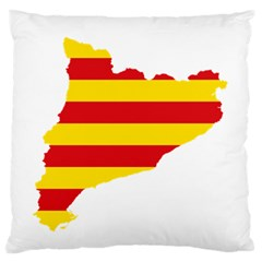 Flag Map Of Catalonia Large Flano Cushion Case (Two Sides)