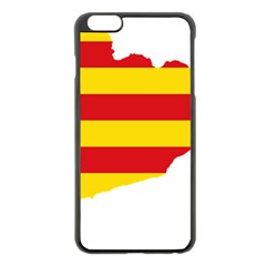 Flag Map Of Catalonia Apple iPhone 6 Plus/6S Plus Black Enamel Case