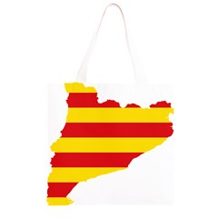 Flag Map Of Catalonia Grocery Light Tote Bag